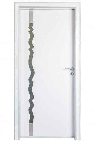 Интериорнa вратa S Line Fashion бяла дизайн с остъкляване