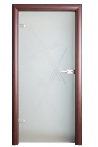 Интериорна стъклена врата S Line матово стъкло