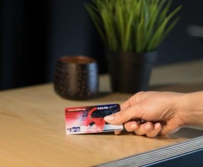 безконтактна карта RFID за отключване на блиндирана врата Солид 55  със защита от копиране