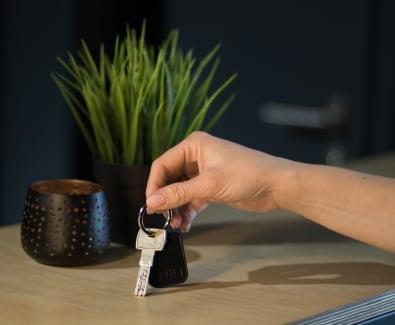 безконтактен ключодържател RFID за отключване на блиндирана врата Солид 55