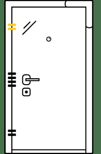 Блиндирана врата с основно механично и допълнително скрито заключване iPS 3.0