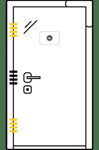 Блиндирана врата с основно скрито и допълнително механично заключване iDoor 3.0