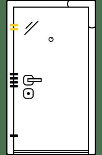 Блиндирана врата с основно механично и допълнително скрито заключване iPS 2.0