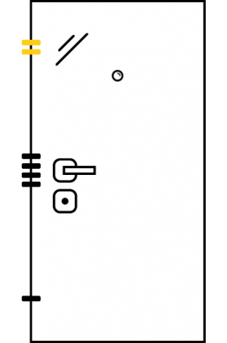 Врати за къща с основно механично и допълнително скрито заключване xDoor 50 Deco