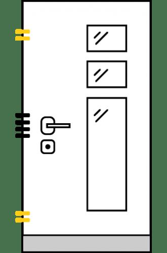 Врати за къща с основно механично и допълнително скрито заключване xDoor 50 EXCLUSIVE