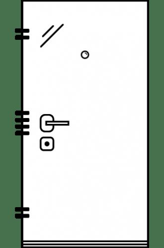 Врата за къща с механично заключване xDoor 50 ThermoAkustic