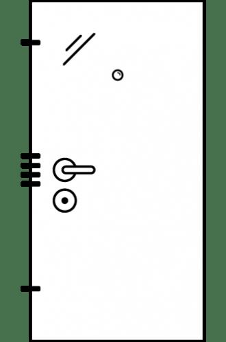 Врати за къща с механично заключване xDoor 50 Outflat M