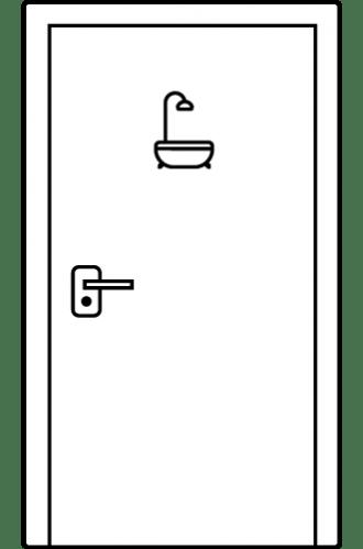 Интериорни врати S Line - врати за баня