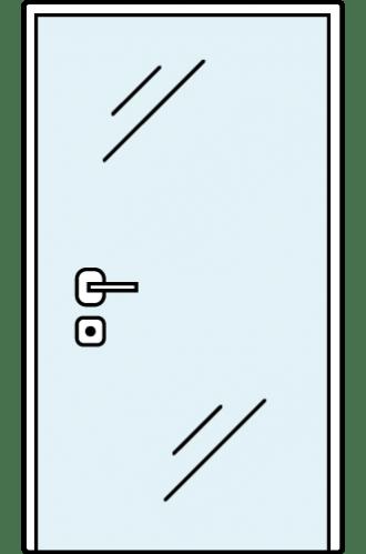 Интериорна стъклена врата S Line