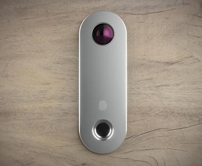 Отключване на блиндирана врата с пръстов отпечатък мат сребро